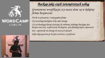 Arkadiusz Stęplowski: Jak robić poprawnie backup