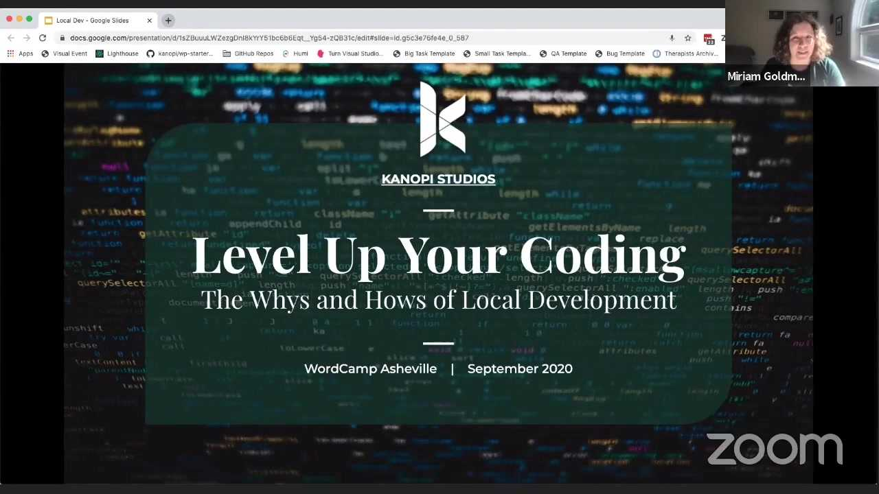 Miriam Goldman: Level Up Your Coding: The Whys and Hows of Local Development