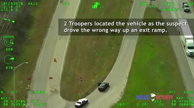 Texas Police Helicopter Video Captures Deadly Shootout On A Highway!