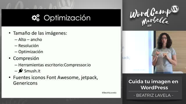 Beatriz Lavela: Cuida tu imagen en WordPress