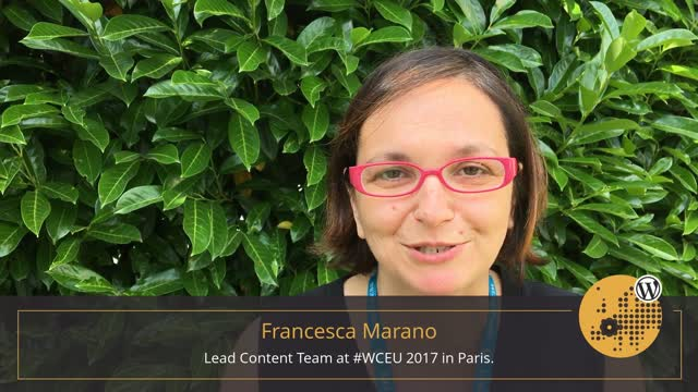 Volunteer Stories: Francesca Marano at WordCamp Europe 2017