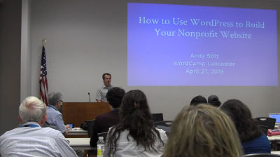 Andy Stitt: How to Use WordPress to Build Your Nonprofit Website