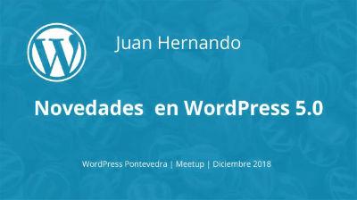 Juan Hernando: Novedades en WordPress 5.0