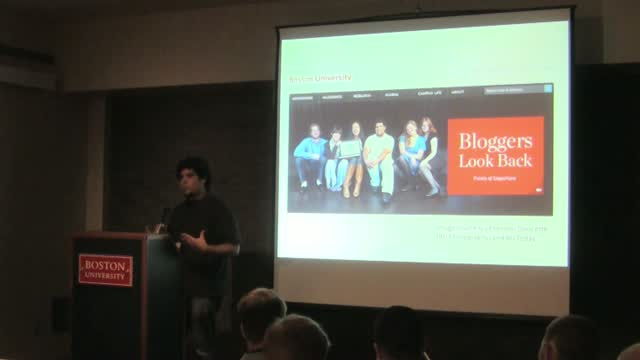 "Adam Engel: Putting the ""Social"" Back in Socia Media: Building Community Through Blogging"