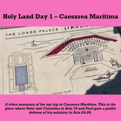 Holy Land Day 1 Caesarea