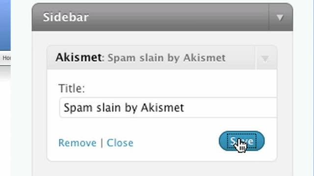 The Akismet Widget for WordPress.com