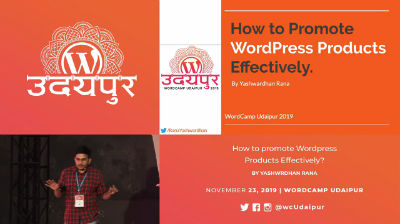 Yashwardhan Rana: How to Market WordPress Products Effectively?