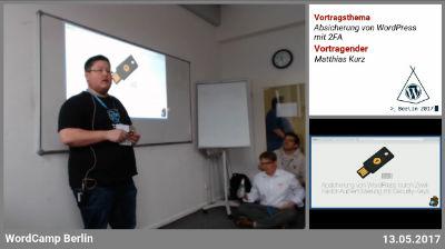 Matthias Kurz: Absicherung von WordPress durch Zwei-Faktor-Authentifizierung mit Security-Keys