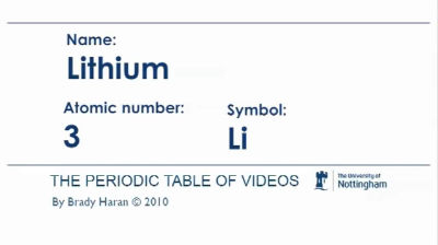 group one metals chemstuff - Periodic Table Symbol For Lithium