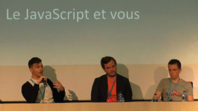 Thomas Deneulin, Romain Lefort, Thierry Le Moulec, Benjamin Lupu: Table ronde: La planète WordPress doit apprendre le JavaScript. Mais… pourquoi ? Et comment ?