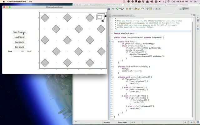 Solution to Karel the Robot Assignment 1: Problem 3 – Sanjib