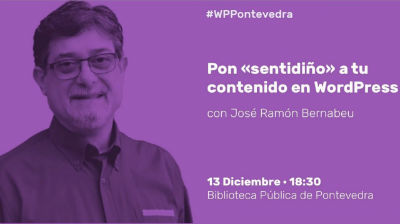 José Ramón Bernabeu: Pon «sentidiño» a tu contenido en WordPress