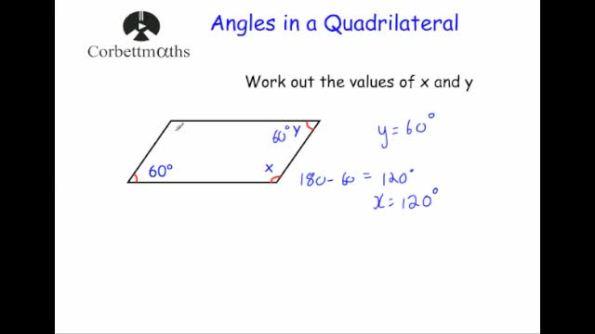 Angles in quadrilaterals – Angles in Quadrilaterals Worksheet
