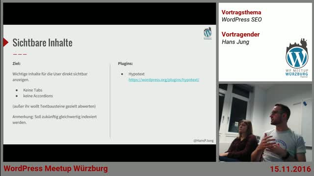 Hans Jung: WordPress SEO