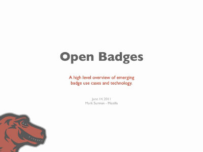 Open Badges – Overview – June 2011