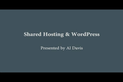 Al Davis: Shared Hosting & WordPress