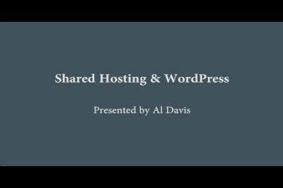 Al Davis: Shared Hosting & WordPress