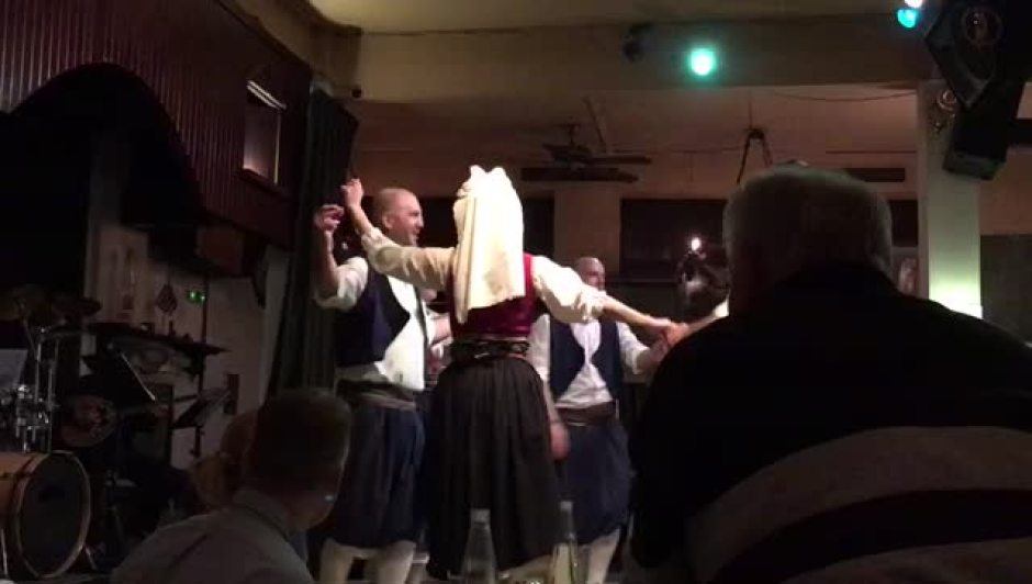 Greek Dance in Local tavern / Restaurant