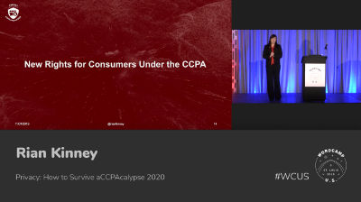 Rian Kinney: Privacy: How to Survive aCCPAcalypse 2020