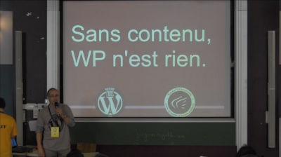Cédric Motte : Sans contenu, WordPress n'est rien