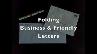 Folding Bisnis & amp; amp; ramah Letters
