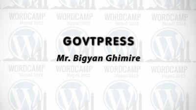 Bigyan Ghimire: GovtPress
