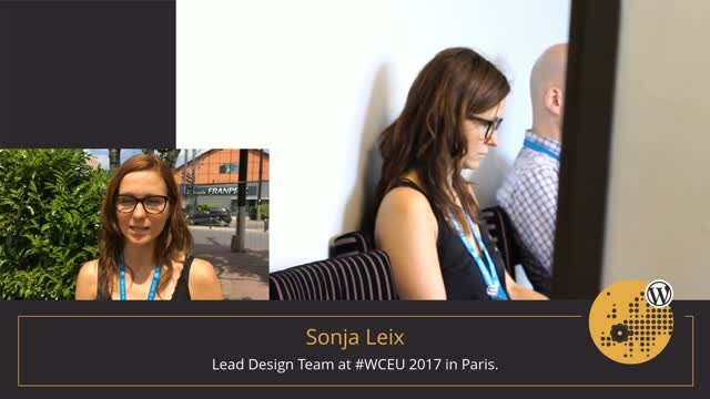 Volunteer Stories: Sonja Leix at WordCamp Europe 2017