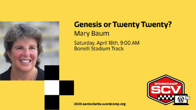 Mary Baum: Genesis or Twenty Twenty?