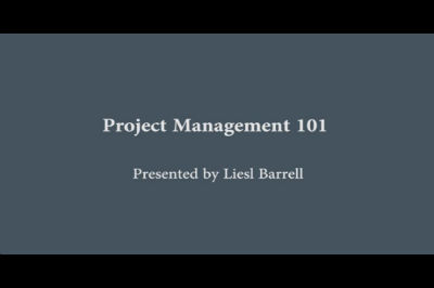 Liesl Barrell: PM101 – Project Management for Small Business