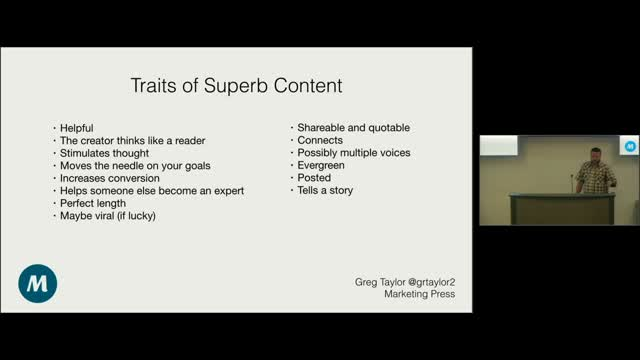Greg Taylor: Content Development