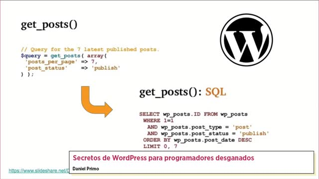 Daniel Primo: Secretos de WordPress para programadores desganados