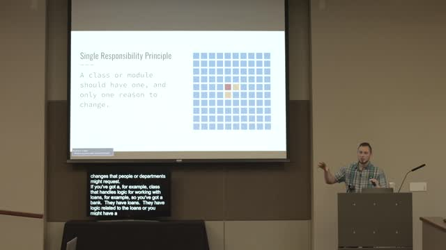 Micah Wood: Basic Principles of Software Architecture