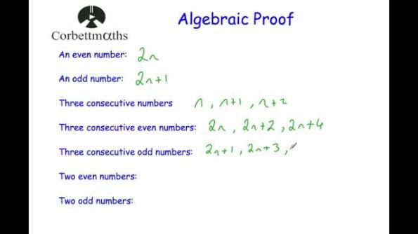 algebraic proof corbettmaths. Black Bedroom Furniture Sets. Home Design Ideas