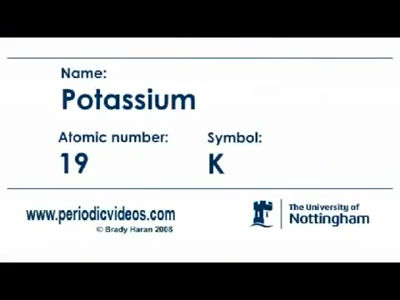 Group one metals chemstuff potassium periodic table of videos urtaz Images