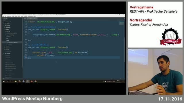 Carlos Fischer Fernández: Praktische Beispiele mit der WP-Rest API