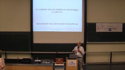 Dietrich Koch: Pages als Lieferanten für Widgets