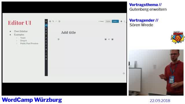 Sören Wrede: Gutenberg erweitern