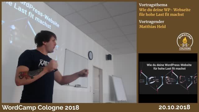 Matthias Held: Wie du deine WP-Seite auf hohe Last vorbereitest