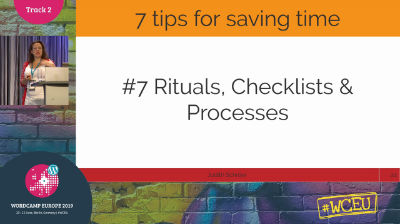 Judith Schröer: Get Things Done! 7 Tips to Save Time