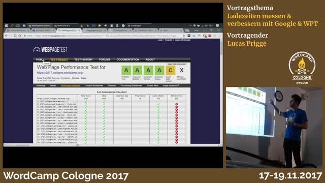 Lucas Prigge: Ladezeiten messen & verbessern mit Google & WPT