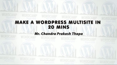 Chandra Prakash Thapa: Make a WordPress Multisite in 20 Minutes