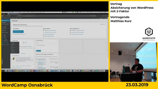 Matthias Kurz: Absicherung vom WordPress mit 2-Faktor