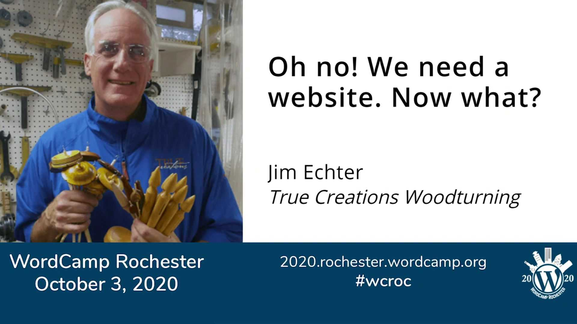 Jim Echter: Oh no! We need a website. Now what?