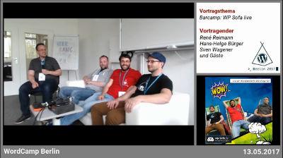Hans-Helge Bürger, René Reimann und Sven Wagener: WP Sofa live