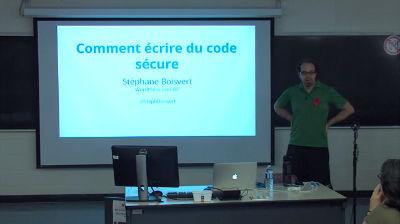 Stéphane Boisvert : Comment écrire du code sécure