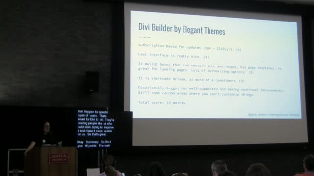 Gina Deaton: Page Builder Showdown