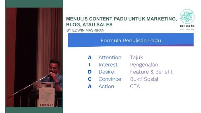 Edwin Masripan: Menulis Content Padu untuk Marketing, Blog, atau Sales