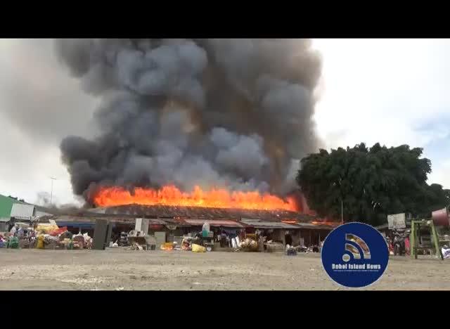 Fire hits Cogon Public Market in Tagbilaran - Bohol Island News