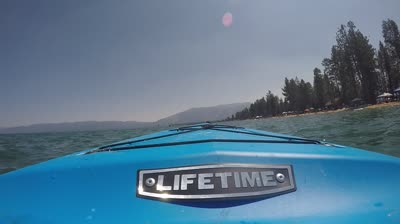 Tahoe lake glass boat bottom