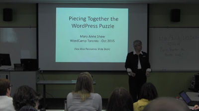 Mary Anne Shew: Piecing Together the WordPress Puzzle